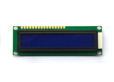 Negative LCM LCD Display 2 X 16 Resolution 1602 STN Monochrome With 16 Pins