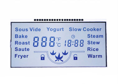 3.6V Numeric LCD Display  / TN Segment LCD Screen For Energy Meter