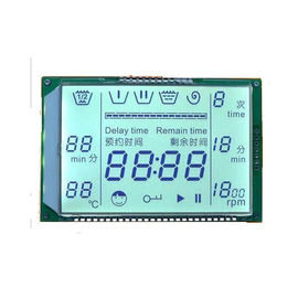 Custom Shaped LCD Screen STN LCD Display Module Blue Segment Dynamic Driving